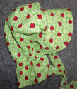 girls sunbonnet soft lime green with red ladybugss-Rawhide Gifts and Gallery