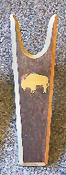 Light Buffalo emblem silhouette bootjack