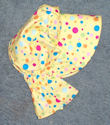 girls sunbonnets Yellow bonnet with mulit-colored polka dots-Rawhide Gifts and Gallery