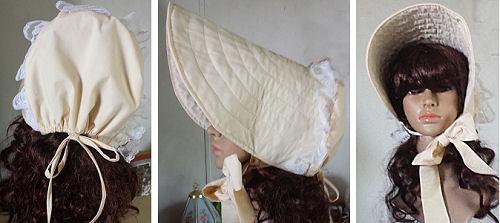 "Long Brimmed ""Victorian"" Sun bonnet Experiment Results"
