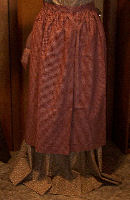 Period CorrectAprons,  Material and Color-Half Apron, long waist ties-Rawhide Gifts and Gallery