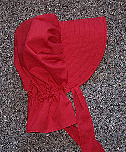girls sunbonnet -Sunmaid Raisin Red Bonnet-Rawhide Gifts and Gallery