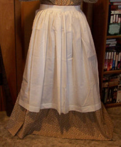 Historical Aprons and their origins, Period Correct Material and Color-Half Apron, long waist ties-Rawhide Gifts and Gallery