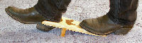 Western Bootjack, laminated overlay of walnut or oak. Your boots can removed comfortably and easily from a standing position too!, Bootjacks How to use