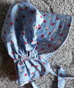 Girl's sunbonnet med soft blue w/ladybugs and daisies