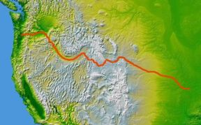 Oregon Trail map Rawhide Gifts and Gallery