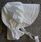 Pure white bonnet perfect as a stand alone lightweight bonnet or for decorating