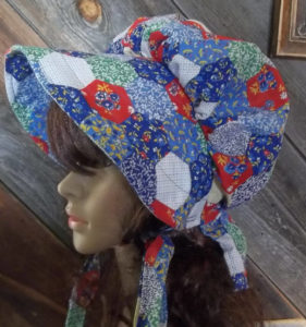 Fun holly hobby patchwork ladies bonnet
