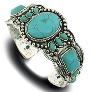 Antique-Looking-Turquoise-Bracelet-Cuff-Bangle-Jewelry