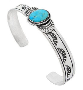Turquoise-Bracelet-Sterling-Silver-Genuine-Turquoise