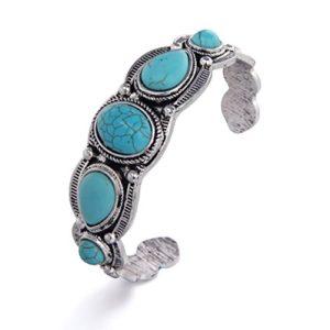 Oval inset Turquoise Bracelets