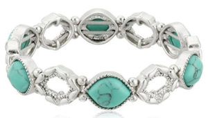 Turuoise and oval gem Bracelets