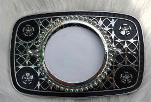 Silver Tone Belt Buckle Blank for Silver Dollars