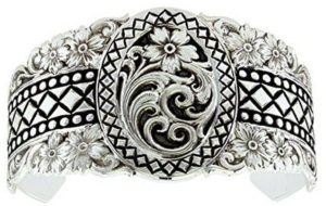Montana Silversmith Floral and Scroll Silver Bracelet