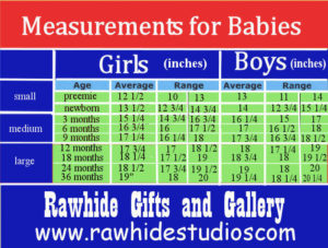 Baby Head Measurents for Bonnets and hats-includes boy and girl sizes