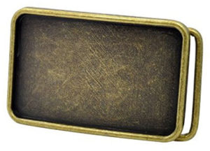 Belt Buckle Blank bronze tone of rectangular shape and great for adding your own design