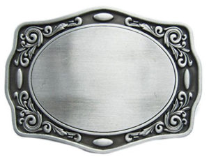 Decorative Belt Buckle Blank for men or women