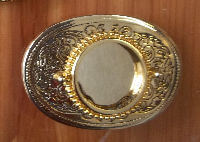 gold buckle blank with small detailing
