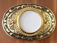 black and gold embossed detailed belt buckle brlank