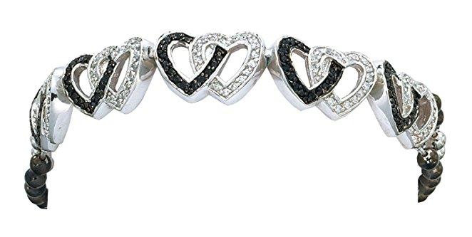 Montana Silversmith Jewelry Women's Double Heart Silver Bracelet