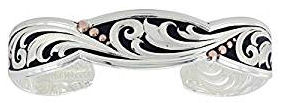 Montana Silversmith. Jewelry  of leather.cut_.rose_.gold_.trailing.vine_.cuff_.bracelet.cuff