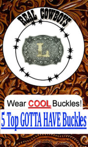 Western Style Carved Belt Buckles