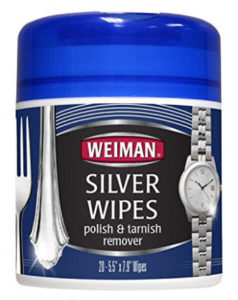 Using Silver Cleaning Wipes to clean your silver