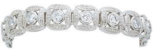Montana Silversmithe Jewelry Bracelet, ladies silvertone with rhinestones