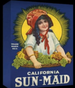 Sun Maid raising box originally in blue