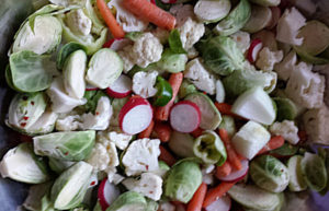 -cut-veggies for my fermented kimchi