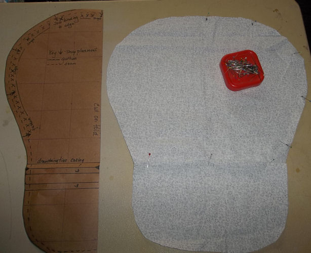 Choosing to fold over the material for a casing or to sew one in on the button bonnet