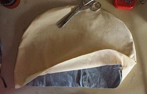 place the denim insert inside the bonnet