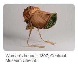 long brimmed short cap bonnet