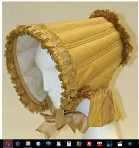 Long Brimmed Slat Bonnet