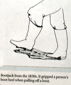 sketch whowing an 1830's bootjack