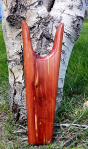 Unique Cedar wood bootjack rawhide gifts and gallery