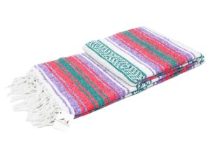 Pastel party favor colored mexican blanket