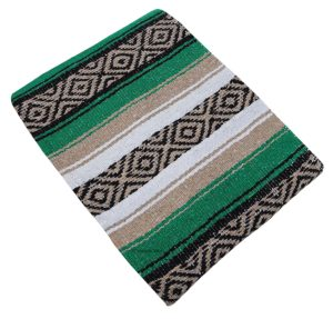 green diamond mexican serape blanket