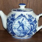 Windmill Tea Pot Delft