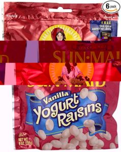 Sun Maid Raisin Vanilla covered yogurt raisins