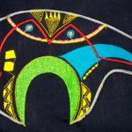 Zuni Bear DIY blue jean denim shirt applique