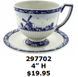 windmill coffee cup and saucer