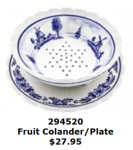 DELFT BLUE BERRY COLANDER