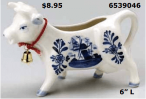 standing delft blue cow creamer