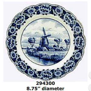 delft windmill plate