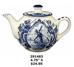 Round windmill teapot