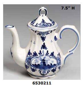 Windmill delft blue teapot
