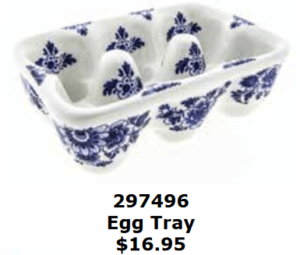 delft blue floral ceramic egg tray