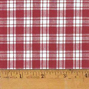 Homespun Burgundy Red Cotton Fabric
