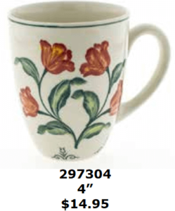 red flowery tulips mug